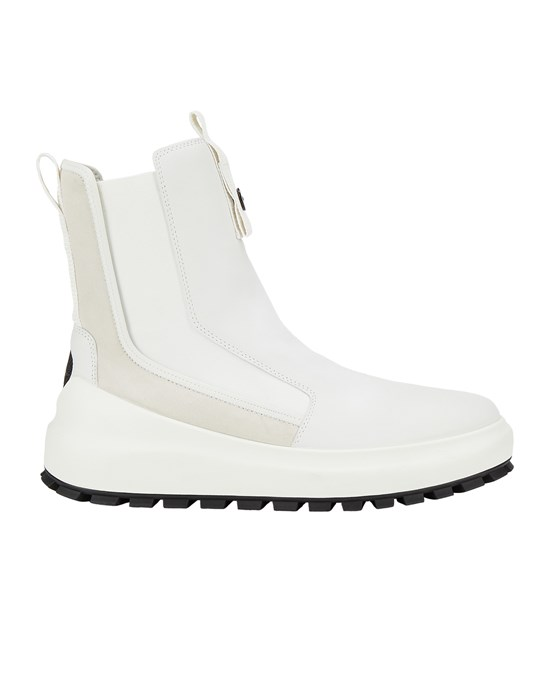 STONE ISLAND SHADOW PROJECT S0121 CHELSEA BOOT:PURE PREMIUM LEATHER AND SUEDE_CHAPTER 1 Shoe. Man Ivory