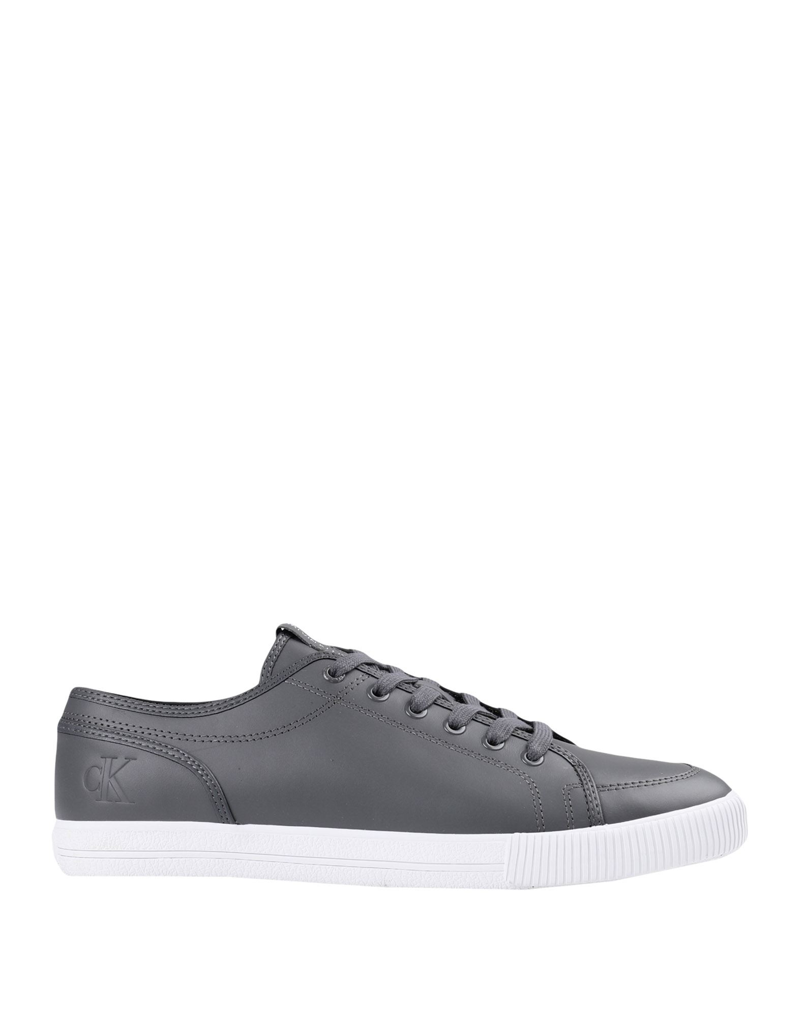 CALVIN KLEIN JEANS メンズ スニーカー ESSENTIAL VULCANO LACE-UP SNEAKERS グレー - ブラック - ホワイト