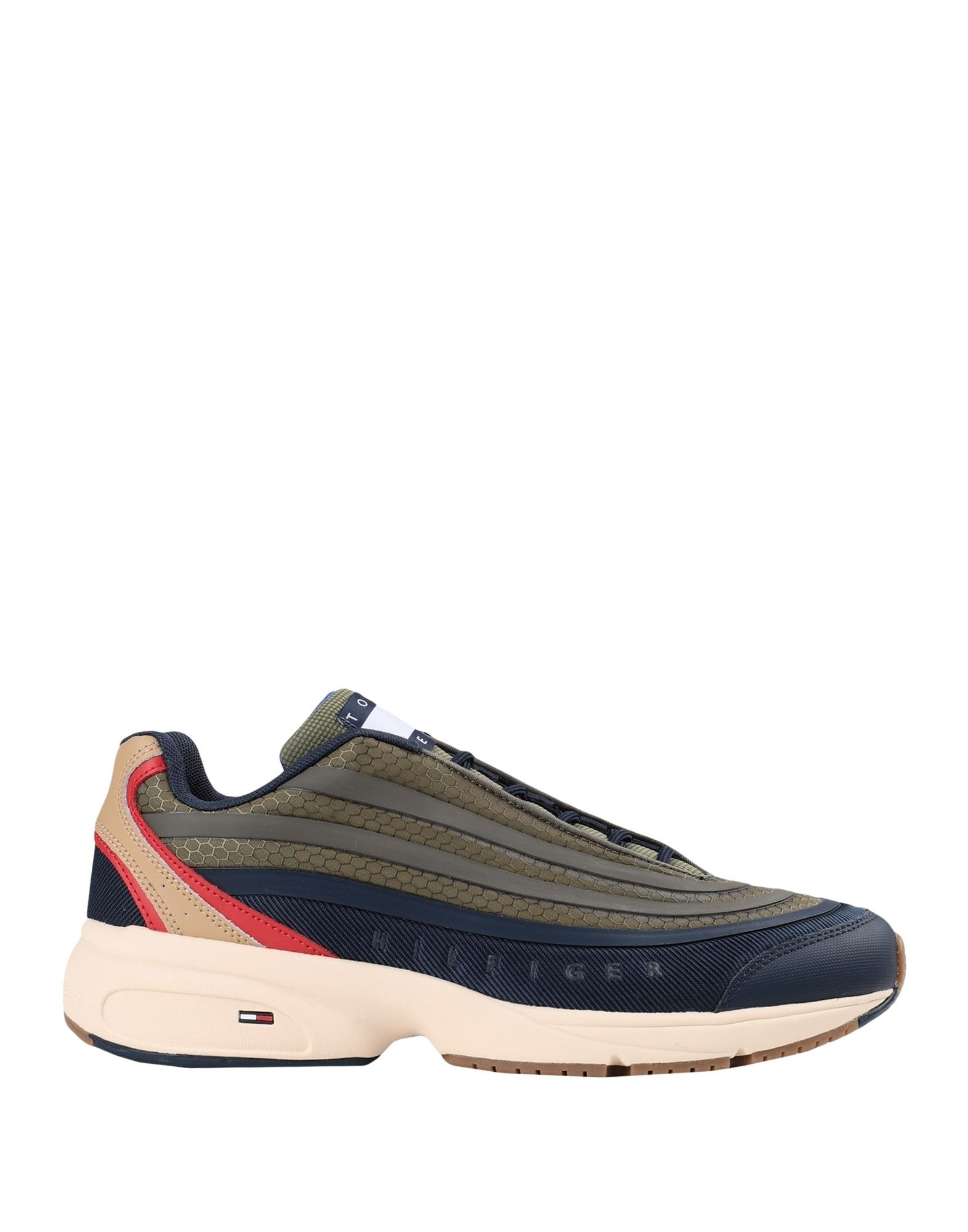 TOMMY JEANS メンズ スニーカー HERITAGE MODERN MIX SNEAKERS ミリタリーグリーン