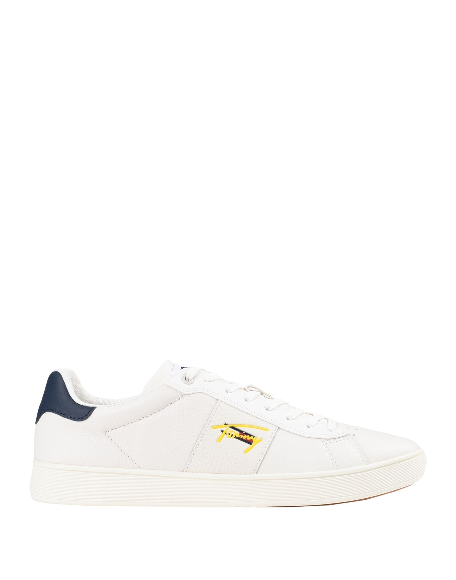 TOMMY JEANS メンズ スニーカー CUPSOLE TJM LEATHER SNEAKERS アイボリー