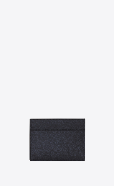 SAINT LAURENT Saint Laurent Paris SLG U CLASSIC SAINT LAURENT PARIS CARD CASE in Navy Blue GRAIN DE POUDRE TEXTURED LEATHER b_V4
