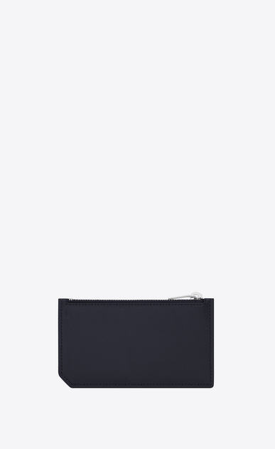 SAINT LAURENT Saint Laurent Paris SLG Man CLASSIC SAINT LAURENT PARIS 5 FRAGMENTS ZIP POUCH IN NAVY BLUE GRAIN DE POUDRE TEXTURED LEATHER b_V4