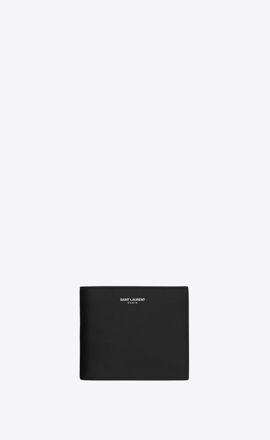 SAINT LAURENT Saint Laurent Paris SLG Man saint laurent paris east/west wallet with coin pouch in black textured leather a_V4