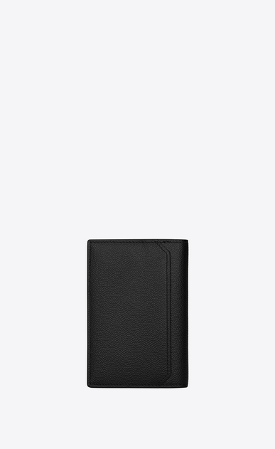 SAINT LAURENT Saint Laurent Paris SLG U CLASSIC SAINT LAURENT PARIS Credit Card Wallet IN Black Grain de Poudre Textured LEATHER b_V4