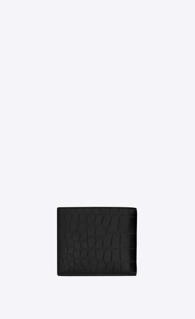 SAINT LAURENT Saint Laurent Paris SLG U CLASSIC SAINT LAURENT PARIS EAST/WEST WALLET WITH COIN POUCH IN BLACK CROCODILE EMBOSSED LEATHER b_V4