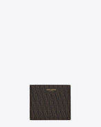 SAINT LAURENT Monogram SLG U CLASSIC TOILE MONOGRAM EAST/WEST WALLET WITH COIN POUCH IN Black Printed Canvas f