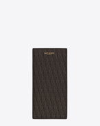 SAINT LAURENT Monogram SLG U CLASSIC TOILE MONOGRAM CONTINENTAL WALLET IN Black Printed Canvas f