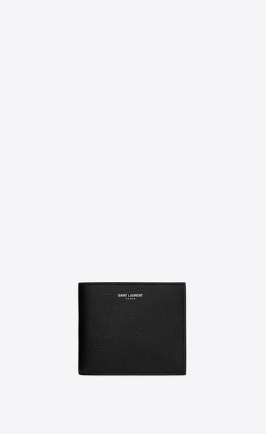SAINT LAURENT Saint Laurent Paris SLG Man east/west wallet in grain de poudre embossed leather a_V4