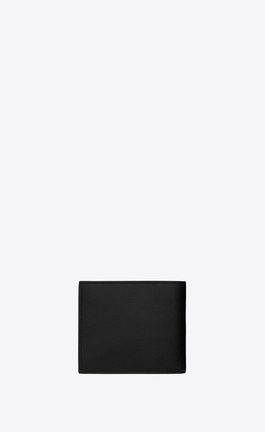 SAINT LAURENT Saint Laurent Paris SLG Man saint laurent paris east/west wallet in black textured leather b_V4