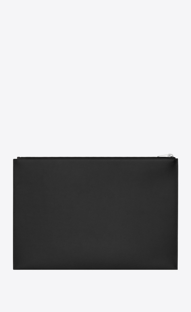 SAINT LAURENT Saint Laurent Paris SLG Man classic saint laurent paris document holder in black grain de poudre textured leather b_V4