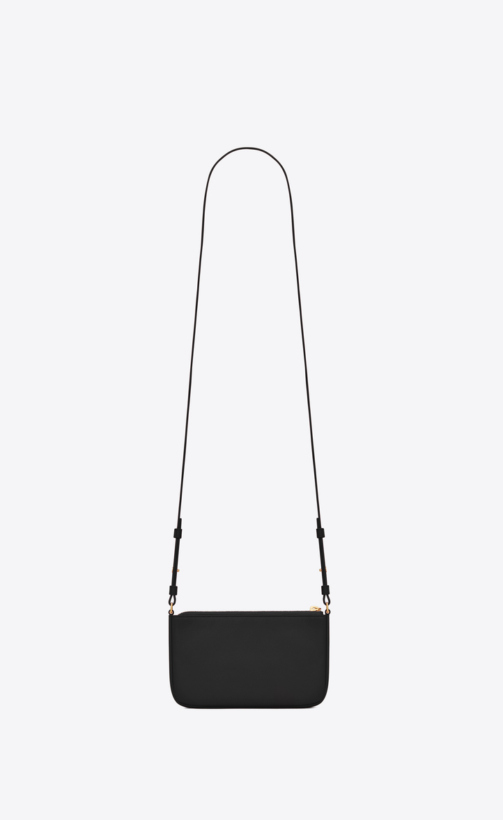 Zoom  MONOGRAM SAINT LAURENT Crossbody Phone Pouch in Black Leather 5a30e1ad07e47