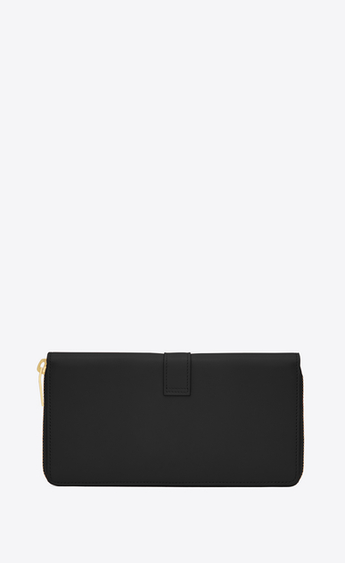 SAINT LAURENT YSL line Donna Portafogli YSL con zip integrale nero in pelle b_V4