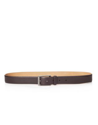 LANVIN Belt U 30mm belt in light grain brilliant calfskin F