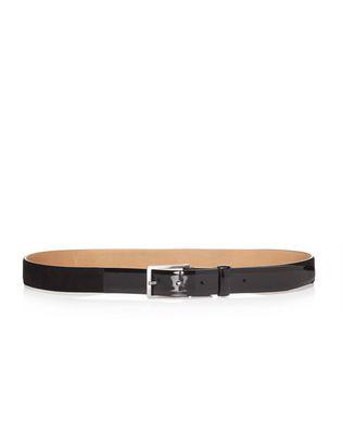LANVIN Belt U 30mm belt in velvet and patent calfskin F
