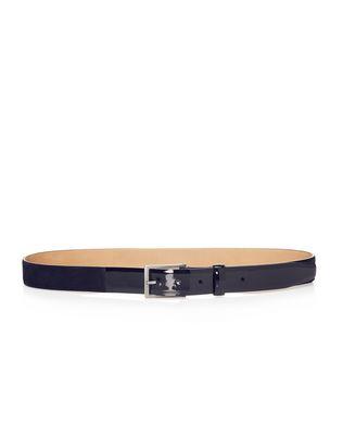 LANVIN Cintura 3cm in velluto e pelle di vitello verniciata Belt U f