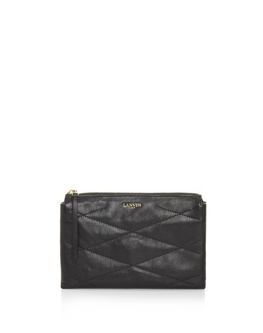 lanvin sugar cosmetic case in lambskin women