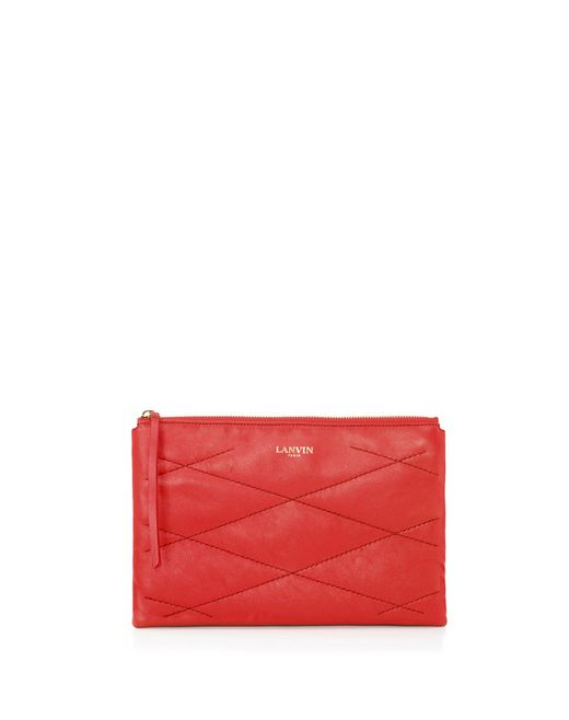 Sugar Cosmetic case in lambskin - Lanvin