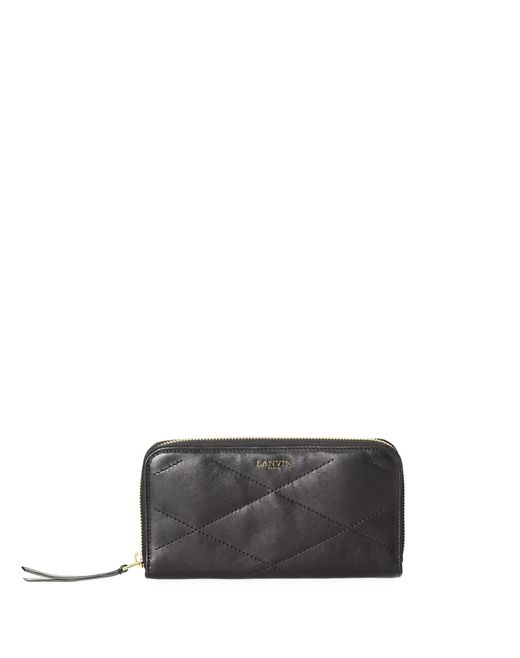 Long zipped Sugar wallet in lambskin - Lanvin