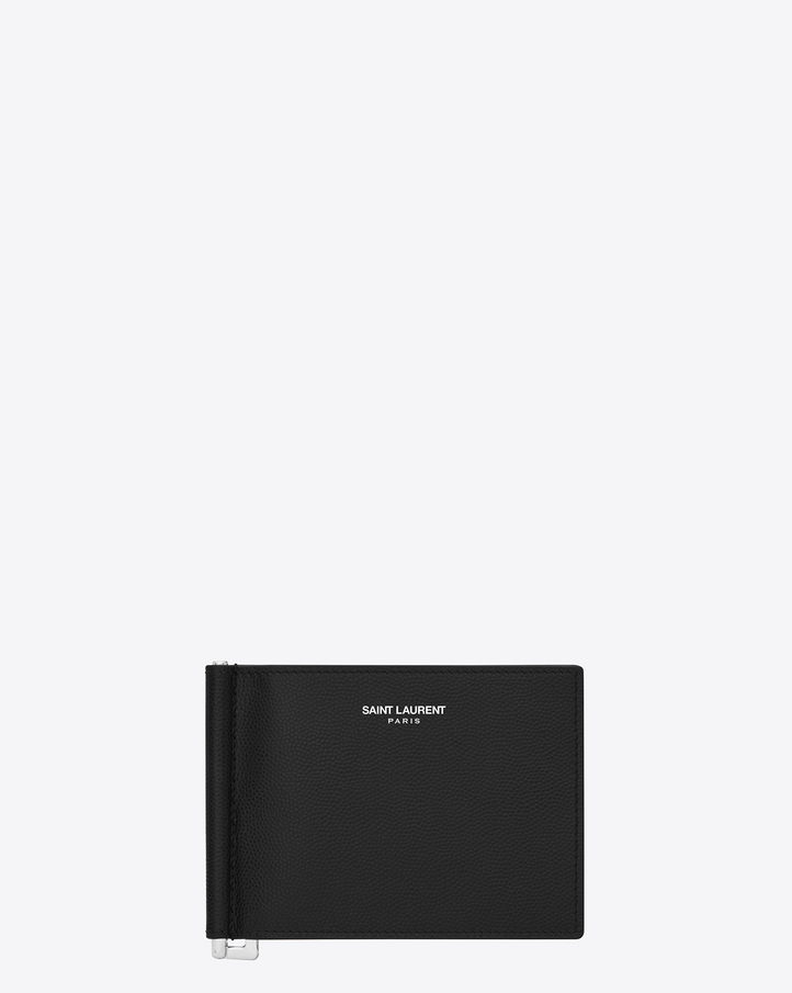 Saint Laurent Classic Saint Laurent Bill Clip Wallet In