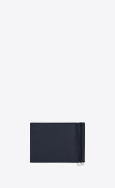 SAINT LAURENT Saint Laurent Paris SLG Man Classic SAINT LAURENT Bill Clip Wallet in Navy Blue Grain De Poudre Textured Leather b_V4