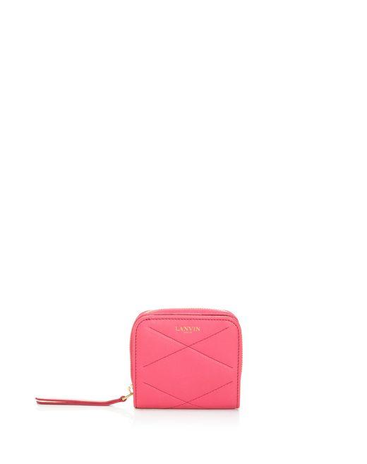 lanvin compact sugar zipped wallet in lambskin women