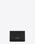 SAINT LAURENT Saint Laurent Paris SLG D Classic SAINT LAURENT PARIS Key Case in Black Leather f