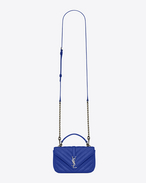 SAINT LAURENT Monogram College D COLLEGE Chain Wallet in Ultramarine Matelassé Leather f
