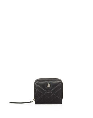 LANVIN COMPACT QUILTED SUGAR PURSE Wallets & Card Holders D f