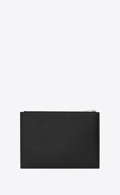 SAINT LAURENT Saint Laurent Paris SLG E saint laurent paris zipped tablet sleeve in black textured leather b_V4