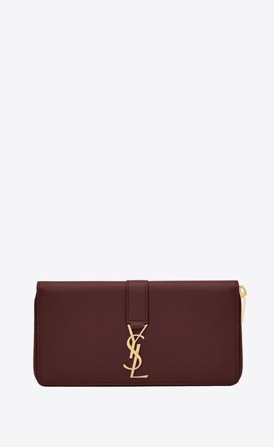 SAINT LAURENT YSL line D YSL Zip Around Wallet in Dark Red Leather v4