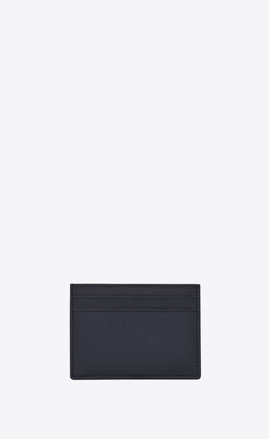 SAINT LAURENT YSL line D YSL Credit Card Case in Navy Blue Leather b_V4