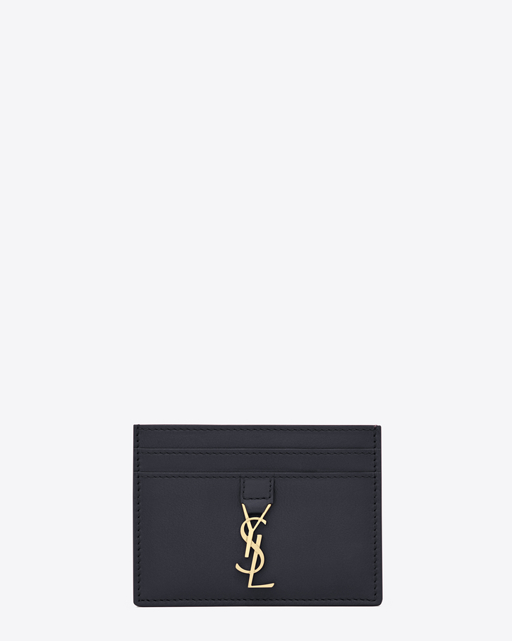 Saint laurent porte cartes ysl en cuir bleu marine for Porte carte ysl