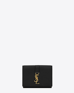 SAINT LAURENT YSL line D YSL Petite Wallet in Black Leather f