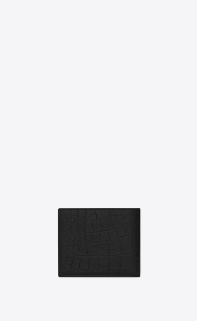 SAINT LAURENT Monogram SLG Man monogram East/West wallet in stamped crocodile leather b_V4