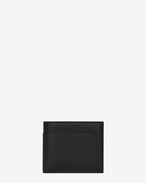 SAINT LAURENT Saint Laurent Paris SLG U Classic FRAGMENTS East/West Wallet in Black Leather and Black Shiny Trim f