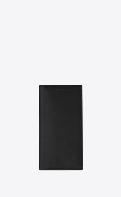 SAINT LAURENT Fragments Small Leather Goods U Classic FRAGMENTS Continental Wallet in Black Leather and Black Shiny Trim a_V4