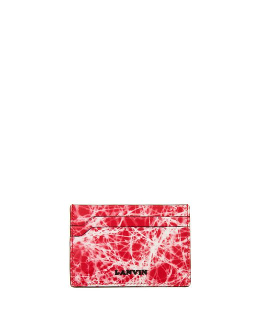 lanvin calfskin flat card holder  men