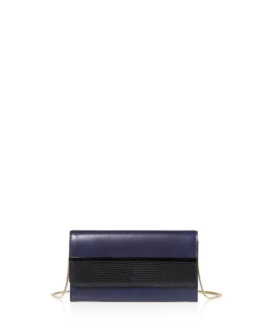 lanvin chain wallet with flap women