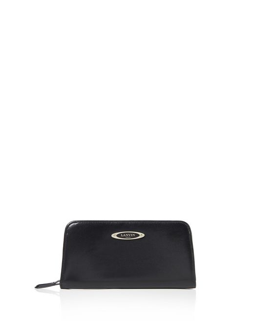 lanvin long zipped wallet women
