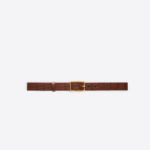 Croc-effect Thin Belt