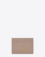 SAINT LAURENT YSL line D YSL Credit Card Case in Rose f