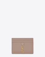 SAINT LAURENT YSL line D Porta carte YSL rosa f