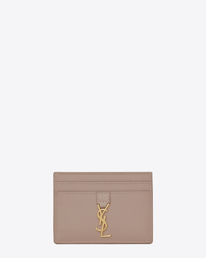 Saint laurent porte cartes ysl rose clair for Porte carte ysl