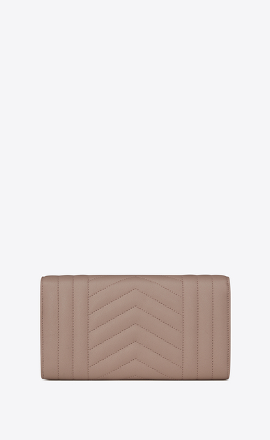 SAINT LAURENT Monogram Mix Matelassé D large monogram flap wallet in rose mixed matelassé leather b_V4