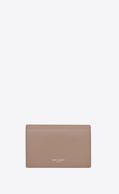 SAINT LAURENT Fragments Small Leather Goods D fragments flap wallet in rose leather v4