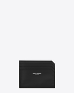 SAINT LAURENT Fragments Small Leather Goods D fragments credit card case in black leather f