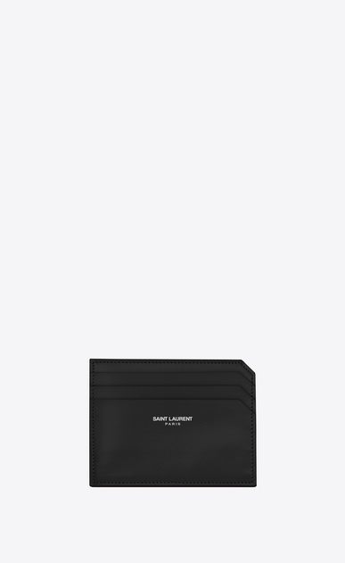 SAINT LAURENT Fragments Small Leather Goods D fragments credit card case in black leather v4