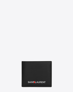 SAINT LAURENT Saint Laurent Paris SLG U SAINT LAURENT Print East/West Wallet in Black f