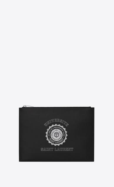 SAINT LAURENT SLP animation U SAINT LAURENT UNIVERSITÉ print Tablet Holder in Black v4