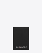 SAINT LAURENT Saint Laurent Paris SLG U Custodia per passaporto a stampa SAINT LAURENT nera f